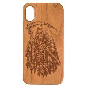 Engraved wood case